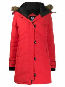 Canada Goose padded hooded coat - Red