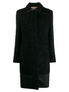 Nº21 mid-length single-breasted coat - Black