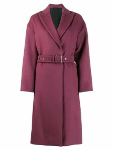 Brunello Cucinelli peaked lapel double breasted coat - PURPLE