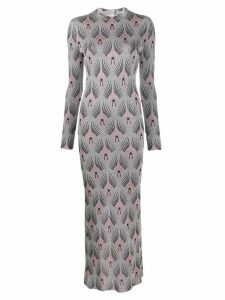 Paco Rabanne jacquard-knit fitted dress - Grey