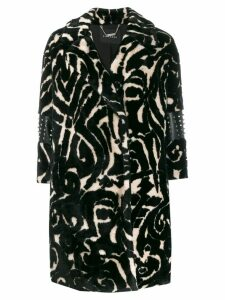 John Richmond Kiculun faux-fur coat - Black