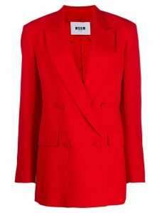 MSGM double-breasted blazer - Red