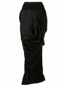 Rick Owens draped asymmetric skirt - Black
