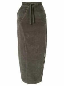 Thom Krom drawstring waist skirt - Grey