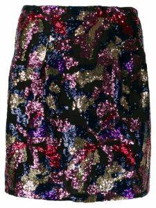 IRO Liv sequin embroidered skirt - PINK