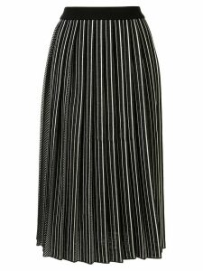 AKIRA NAKA pleated midi skirt - Black