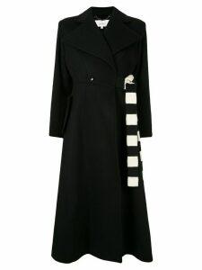 AKIRA NAKA wrap front coat - Black