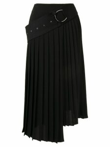 AKIRA NAKA asymmetric pleated skirt - Black