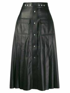 Prada round studded midi skirt - Black