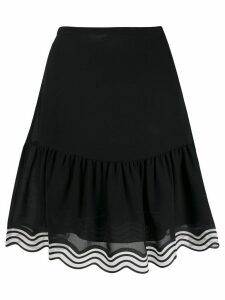 See By Chloé striped hem georgette skirt - Black