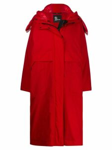 Moncler Grenoble Tervela oversized padded coat - Red