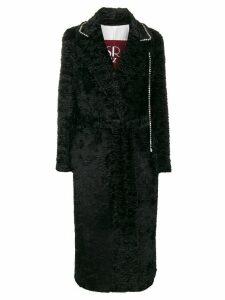 srvz club Donna faux-fur crystal coat - Black