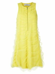 Gloria Coelho draped tulle dress - Yellow