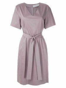 Gloria Coelho tie waist dress - PURPLE