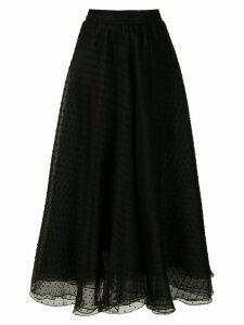 Gloria Coelho organza flared skirt - Black