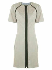 Gloria Coelho raglan sleeves short dress - NEUTRALS