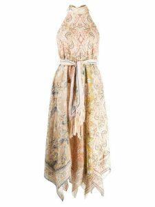 Zimmermann paisley asymmetric dress - NEUTRALS