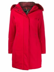 RRD fur-trimmed hood parka coat - Red
