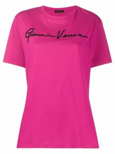 Versace logo embroidered T-shirt - PINK