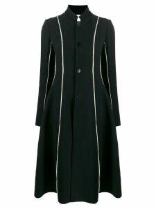 PHAEDO STUDIOS A-line crinkle-crepe coat - Black
