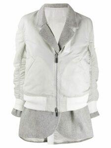Sacai deconstructed layered coat - Grey