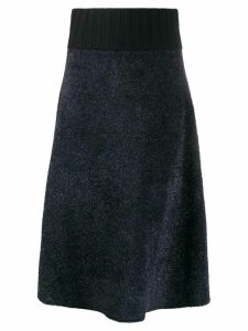 Tory Burch high-waisted midi skirt - Blue