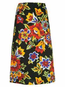 Carolina Herrera floral print pencil skirt - Black