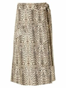 Gloria Coelho leopard print wrap skirt - Multicolour