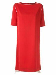 Gloria Coelho contrasting side straps dress - Red