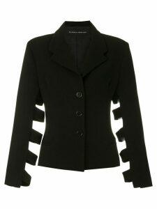 Gloria Coelho cut out details blazer - Black