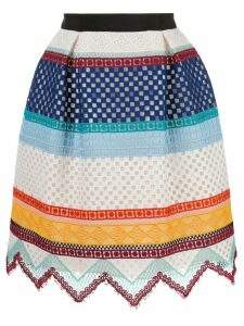 Carolina Herrera crochet striped skirt - Multicolour