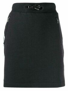 Calvin Klein Jeans logo trim drawstring skirt - Black