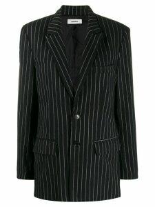 Danielle Guizio pin stripe blazer - Black