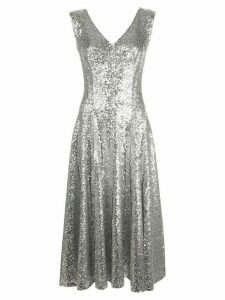 Norma Kamali Grace sequin A-line dress - SILVER