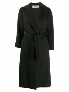Blanca notch lapel belted coat - Black