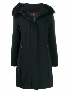 RRD fur-trimmed hood parka coat - Black