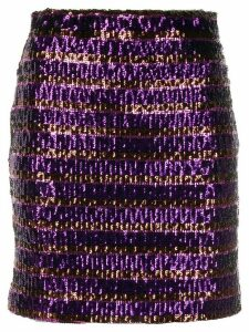 Aniye By sequin embroidered mini skirt - 00698 PURPLE