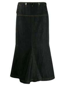 Marni flared denim skirt - Black