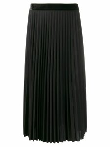 Guardaroba pleated high-waisted skirt - Black