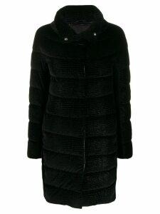 Herno concealed fastening padded coat - Black