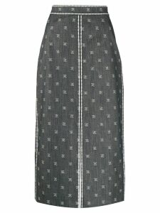 Fendi Karligraphy pencil skirt - Blue