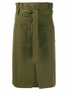 Jovonna Roisin paperbag waist skirt - Green