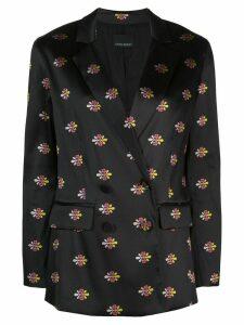 Cynthia Rowley double breasted jacquard blazer - Black