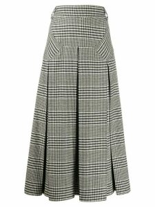 Emilia Wickstead houndstooth pattern A-line skirt - Black