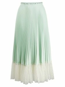 Red Valentino tulle detail pleated skirt - Green