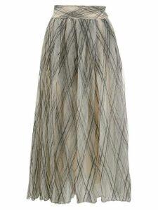Brunello Cucinelli geometric pleated skirt - NEUTRALS