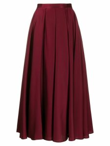 Blanca pleated A-line skirt - PURPLE