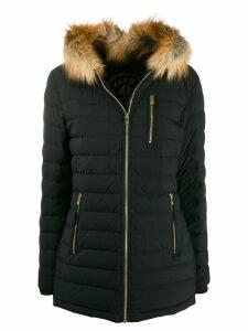 Moose Knuckles trimmed padded coat - Black