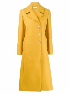 Tory Burch guardsman midi coat - Yellow