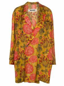 Uma Wang floral oversized blazer - Yellow